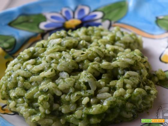 Risotto agli spinaci senza lattosio