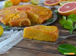 Torta rovesciata alle carote e agrumi