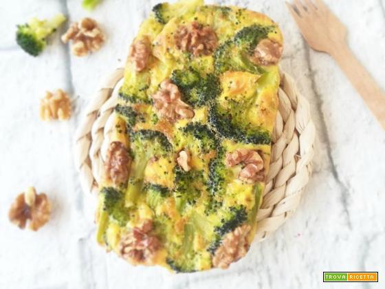 Frittata al forno con broccoli e noci