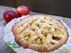 Crostata di mele al profumo di lime la ricetta