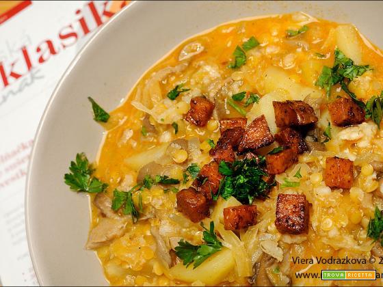 Kyselica – Zelňačka – zuppa di crauti senza glutine