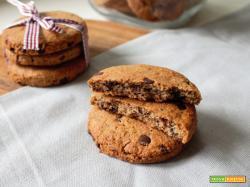 Biscotti con grano saraceno e gocce di cioccolato