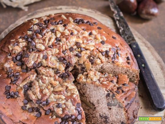 Torta di castagne, noci e cioccolato