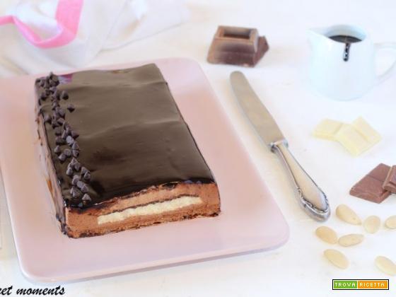 Dolce ai tre cioccolati