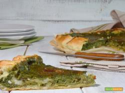 Torta salata spinaci e crescenza