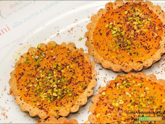 Crostatine alla zucca e pistacchi senza glutine