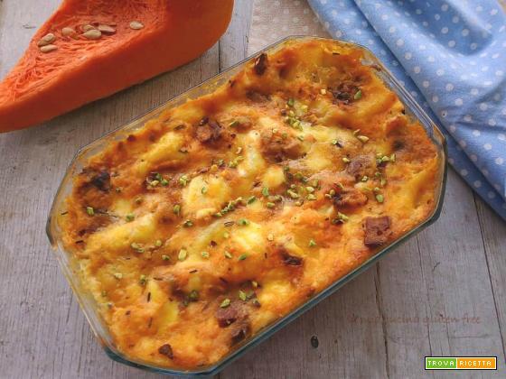 Lasagna con zucca e funghi porcini