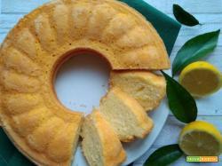 Ciambella al limone senza lattosio