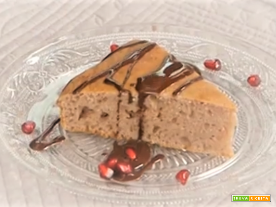 Torta al melograno con glassa al cioccolato e olio evo