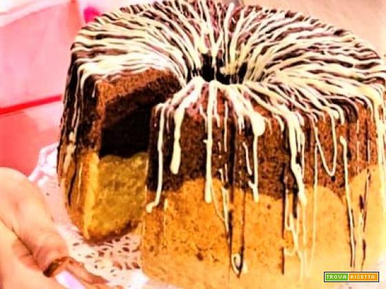 Chiffon cake al cacao e vaniglia da La Prova del Cuoco