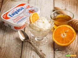Un dolce al cucchiaio: Crema di formaggio all'arancia