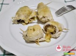 Involtini di pollo con melanzane e formaggio