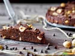 Torta Biscotto al Cioccolato e Nocciole