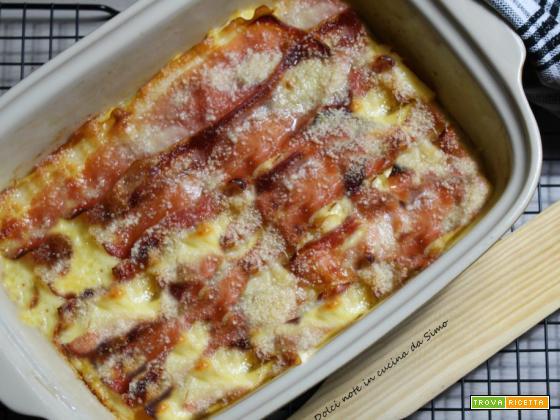 Polenta farcita con speck e formaggio