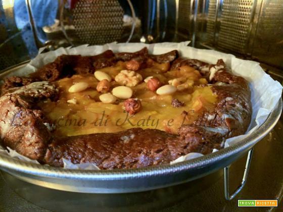 Torta cioccolato e mele senza sensi di colpa -ricetta senza burro