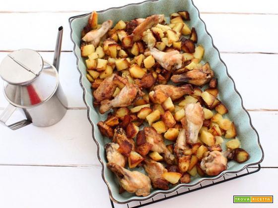 Pollo con patate al forno