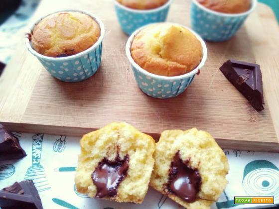 muffin senza glutine con cuore fondente ricetta
