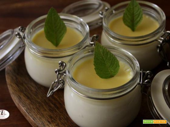 Panna cotta alla salvia ananas e cioccolato bianco