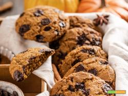 COOKIES alla ZUCCA e CIOCCOLATO Vegan Integrali | VEGAN PUMPKIN CHOCOLATE CHIP COOKIES
