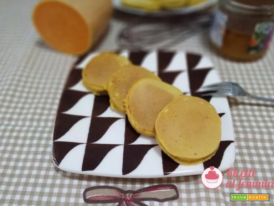 Pancake alla zucca senza burro