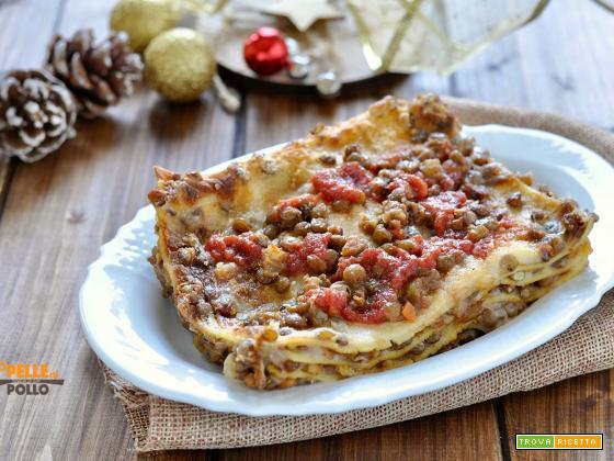 Lasagne al ragù di lenticchie