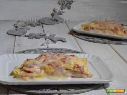 Lasagne bianche con prosciutto cotto