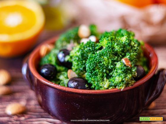 Broccoletti con arance e olive