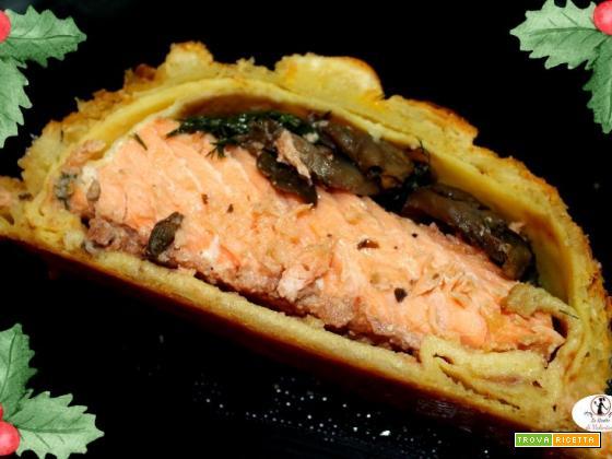 Filetto di salmone alla Wellington (più o meno)