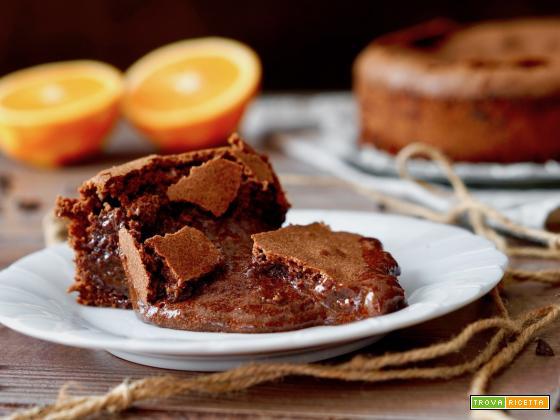 Torta al Cioccolato e Arancia dal Cuore Cremoso