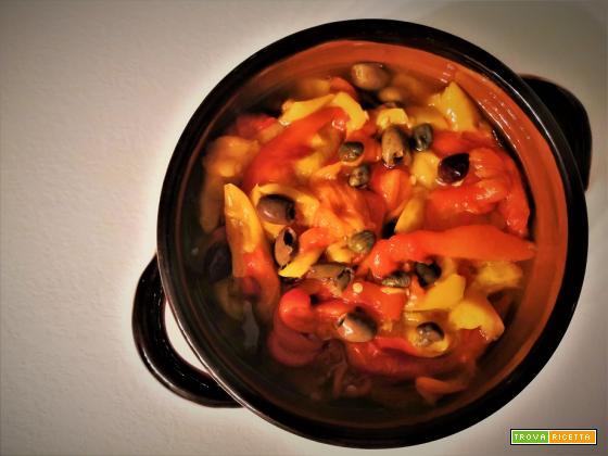 Peperoni arrostiti al microonde