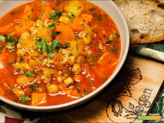 Zuppa invernale speziata e senza glutine