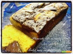 Plumcake alla ricotta e crema nocciolata