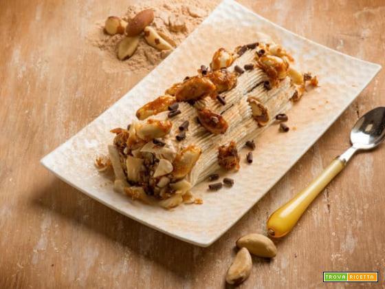 Tronchetto con panna e noci di macadamia: una delizia esotica