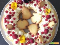 Cream Tart Cake con crema diplomatica