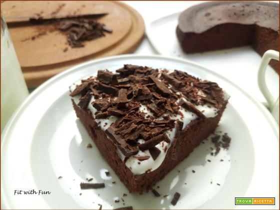 Torta Brownie Cocco e Cacao al Microonde