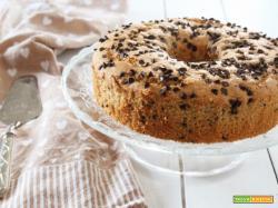 Chiffon cake caffè e gocce di cioccolato