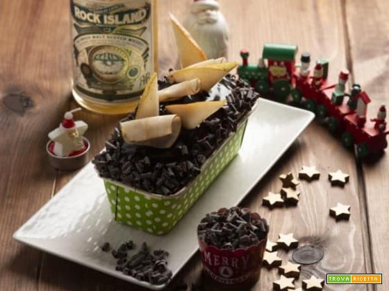 Dolce tronchetto con pere candite e whiskey per Natale