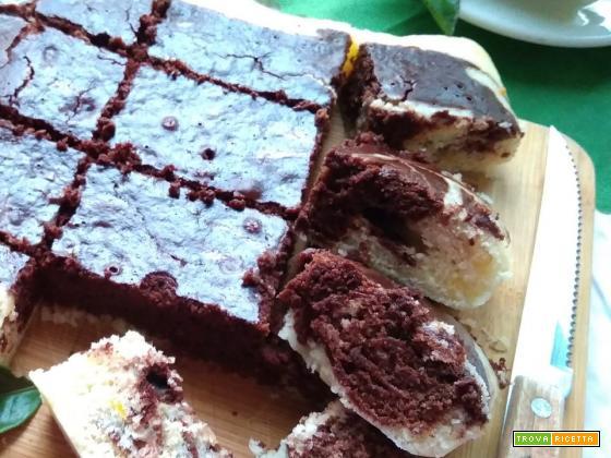 torta all'acqua arancia e cacao