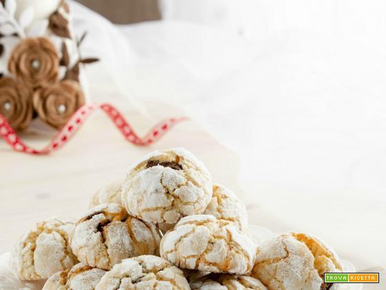 Crinkle cookies all'arancia e cioccolato
