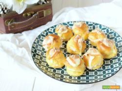 Bignè salati alla crema di prosciutto