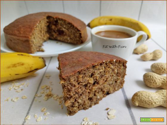 Torta Fit e Proteica Arachidi Banana e Avena
