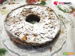 Torta rosa del deserto senza glutine con gocce di cioccolato