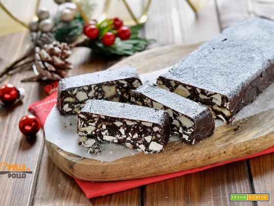 Salame di cioccolato al torrone