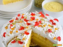 Torta innevata al lemon curd