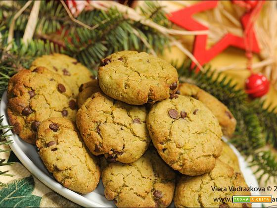 Biscotti al Matcha e pistacchio senza glutine