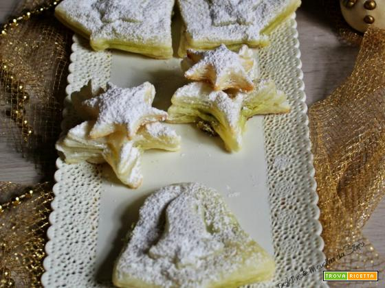 Sfogliette Natalizie alla crema pistacchio
