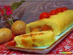 Rotolo di patate con salsiccia e zucca