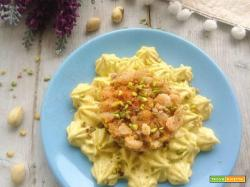 Tartare di gamberi con maionese al pistacchio