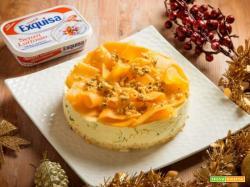 Cheesecake salata alla zucca e pistacchi ed è subito aria di festa