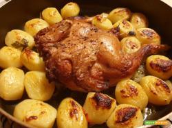 Galletto al forno con patate novelle